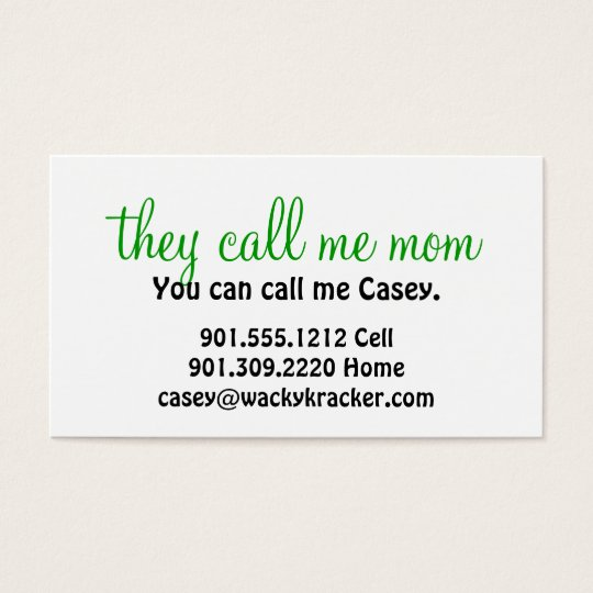 They call me mom business cards zazzle they call me mom business cards colourmoves