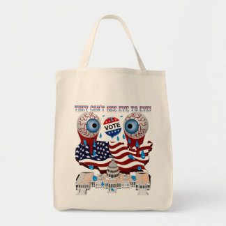 They-Can't-See-Eye-to-Eye-1 Tote Bag