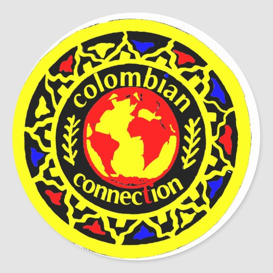 they colombian connection classic round sticker