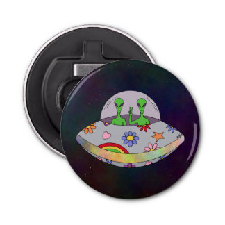 They Come in Peace UFO Bottle Opener