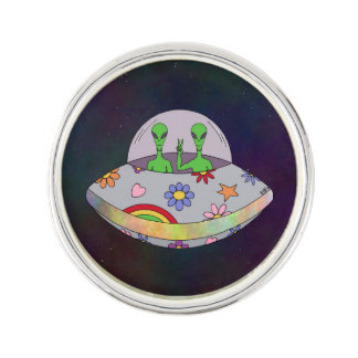 They Come in Peace UFO Pin