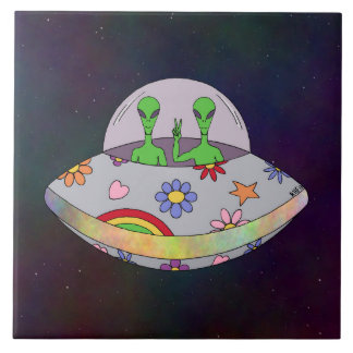 They Come in Peace UFO Tile
