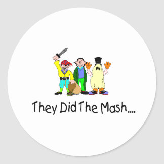 They Did The Mash Round Stickers