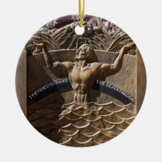 They Died to Make the Desert Bloom Double-Sided Ceramic Round Christmas Ornament