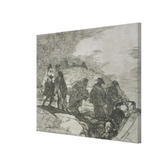 They do not know the way, plate 70 of 'The Disaste Canvas Print