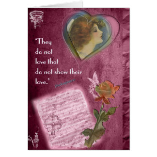 They Do Not Love...Valentine Greeting Card