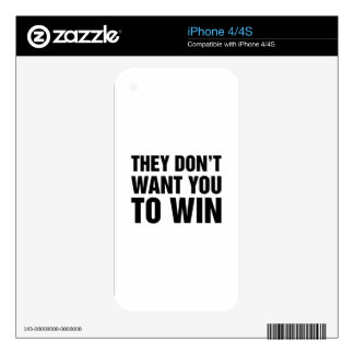 They Don't Want You To Win Decals For The iPhone 4