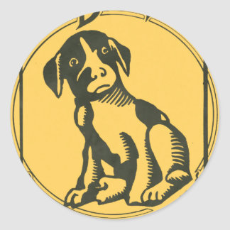 They Gotta Quit Kickin' My Dawg Aroun' Classic Round Sticker
