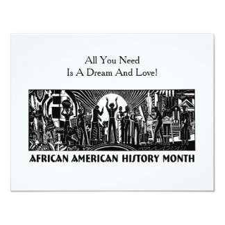 They Had A Dream BHM Party Invitation