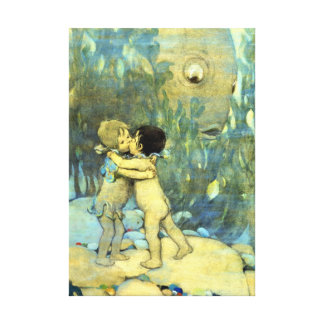 They Hugged and Kissed 1916 Canvas Print