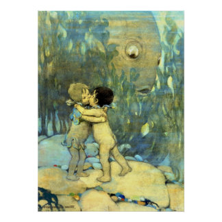 They Hugged and Kissed 1916 Print
