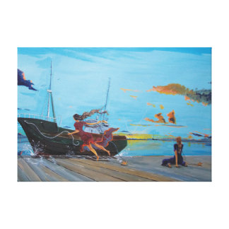 They,… in the harbours canvas print