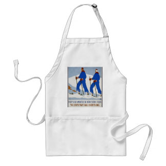 They like winter in New York State Adult Apron