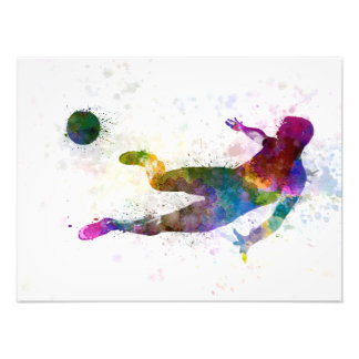 they man soccer football to player flying kicking art photo