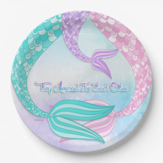 They Mermaid For Each Other Paper Plate