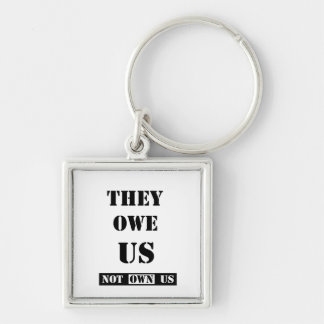 THEY OWE US (NOT OWN US) KEYCHAIN