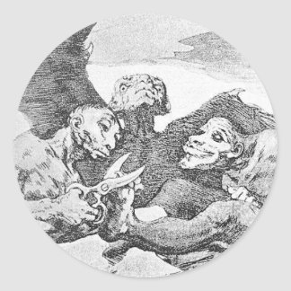 They Pare by Francisco Goya Classic Round Sticker