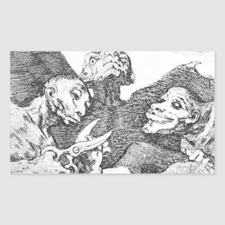 They Pare by Francisco Goya Rectangular Sticker
