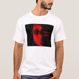 They;re Here! Alien Landing tee. T-Shirt