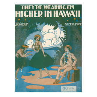 They're Wearing 'Em Higher In Hawaii Postcard