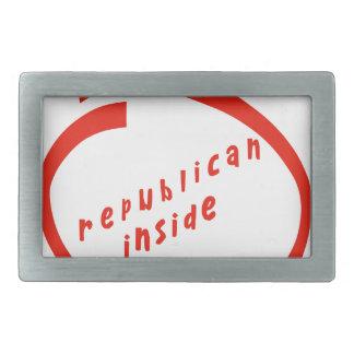 they republican inside rectangular belt buckle