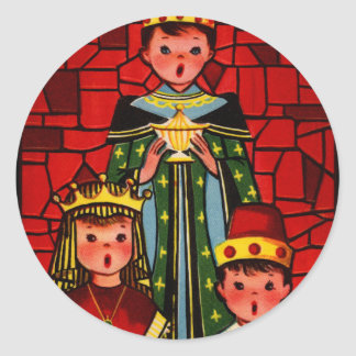 They Sang We Three Kings Classic Round Sticker