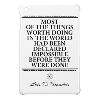 They say impossible than you do it iPad mini cover