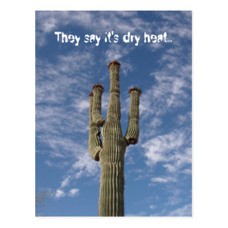 They say it s dry heat post cards