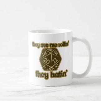 They see me rollin they hatin coffee mug