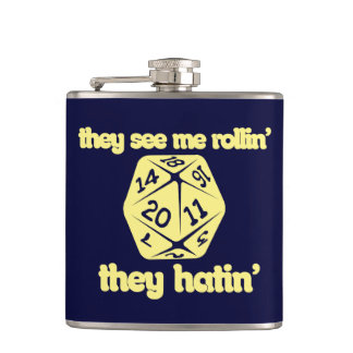They see me rollin' they hatin' hip flask