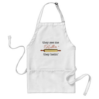 They see me Rollin' - Vintage Funny Baker Adult Apron
