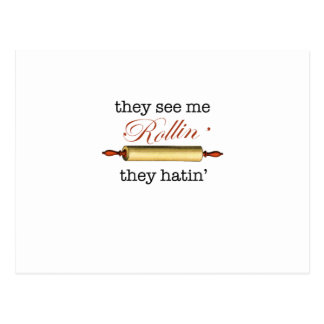 They see me Rollin - Vintage Funny Baker Post Card