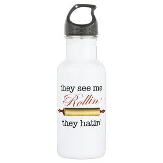They see me Rollin' - Vintage Funny Baker Water Bottle