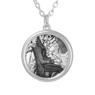 They Sing for the Composer by Francisco Goya Round Pendant Necklace