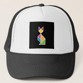they tangram cat 1 trucker hat