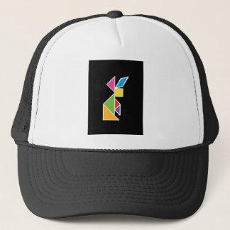 they tangram rabbit rabbit trucker hat