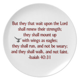 They That Wait Upon the Lord Melamine Plate