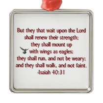 They That Wait Upon the Lord Metal Ornament