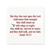 They That Wait Upon the Lord Napkin