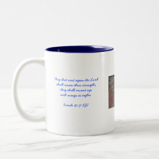 They that wait upon the Lord shall re... Two-Tone Coffee Mug