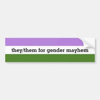 They/Them Bumper Sticker or Bass Drum Sticker