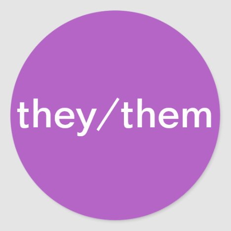 They/Them Pronoun Stickers for Name Tags