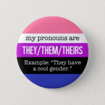 They/Them Pronouns – Genderfluid Flag Pinback Button