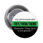 They/Them Pronouns – Neutrois Flag Button