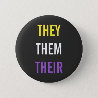 They/Them/Their Pronouns Pinback Button