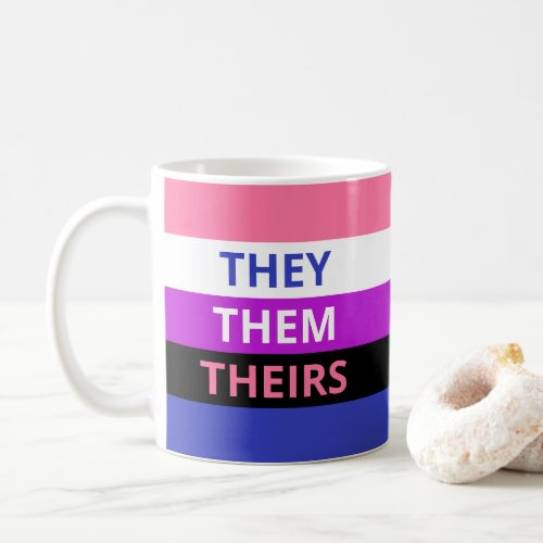 TheyThemTheirs Pronouns Genderfluid Classic Mug