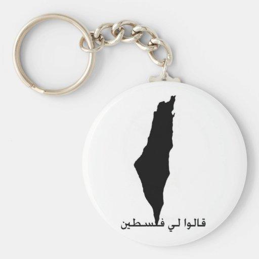 They Told me Palestine Basic Round Button Keychain