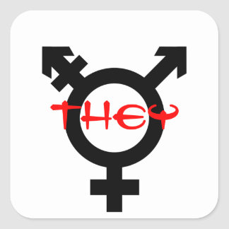 They Transgender Square Sticker