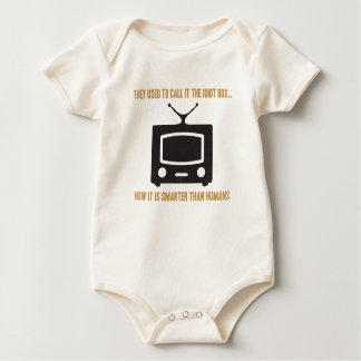 They used to call it the idiot box.. baby bodysuit
