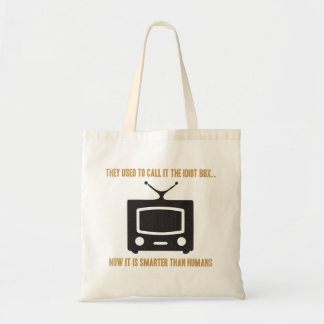 They used to call it the idiot box.. tote bag